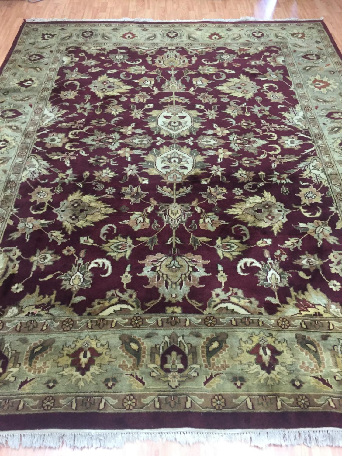 Indian Agra Oriental Rug Pile Hand Made