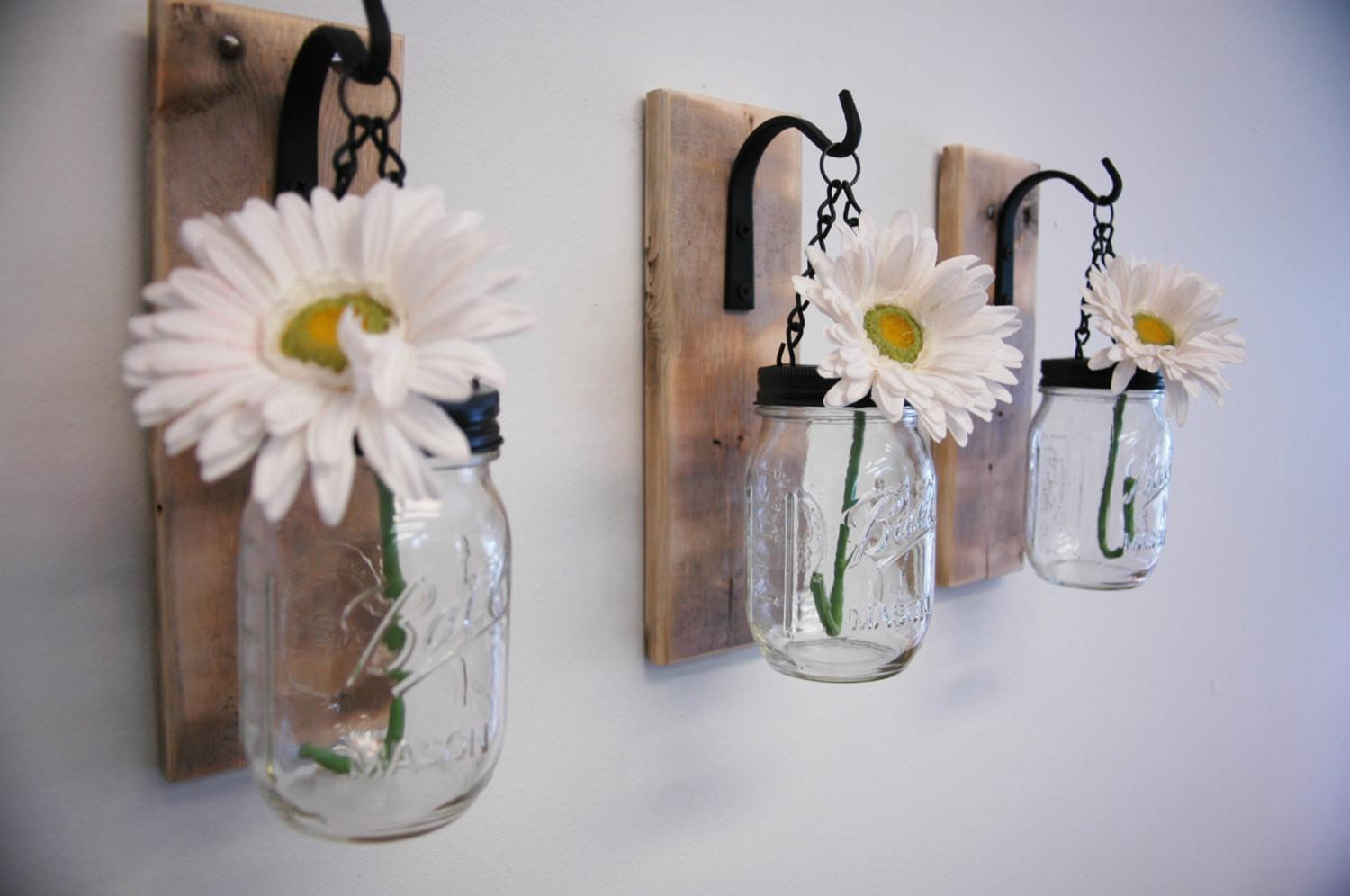 Individual Hanging Mason Jar Wall Decor