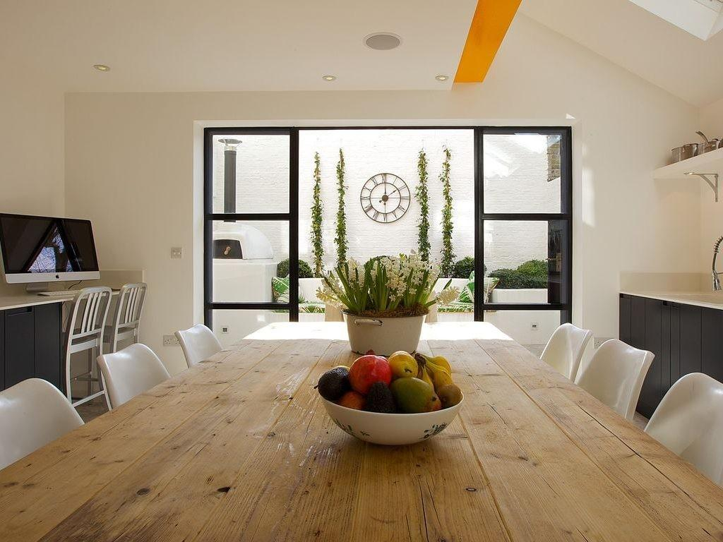 Indoor Brick Wall Contemporary Dining Room Griffin