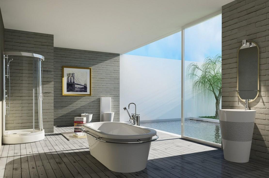 Indoor Modern Minimalist Bathroom House