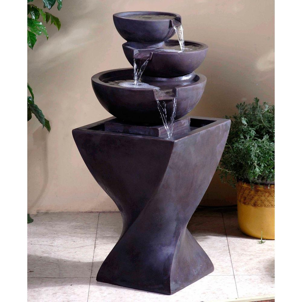 Indoor Outdoor Bowls Water Fountain Home Garden Backyard
