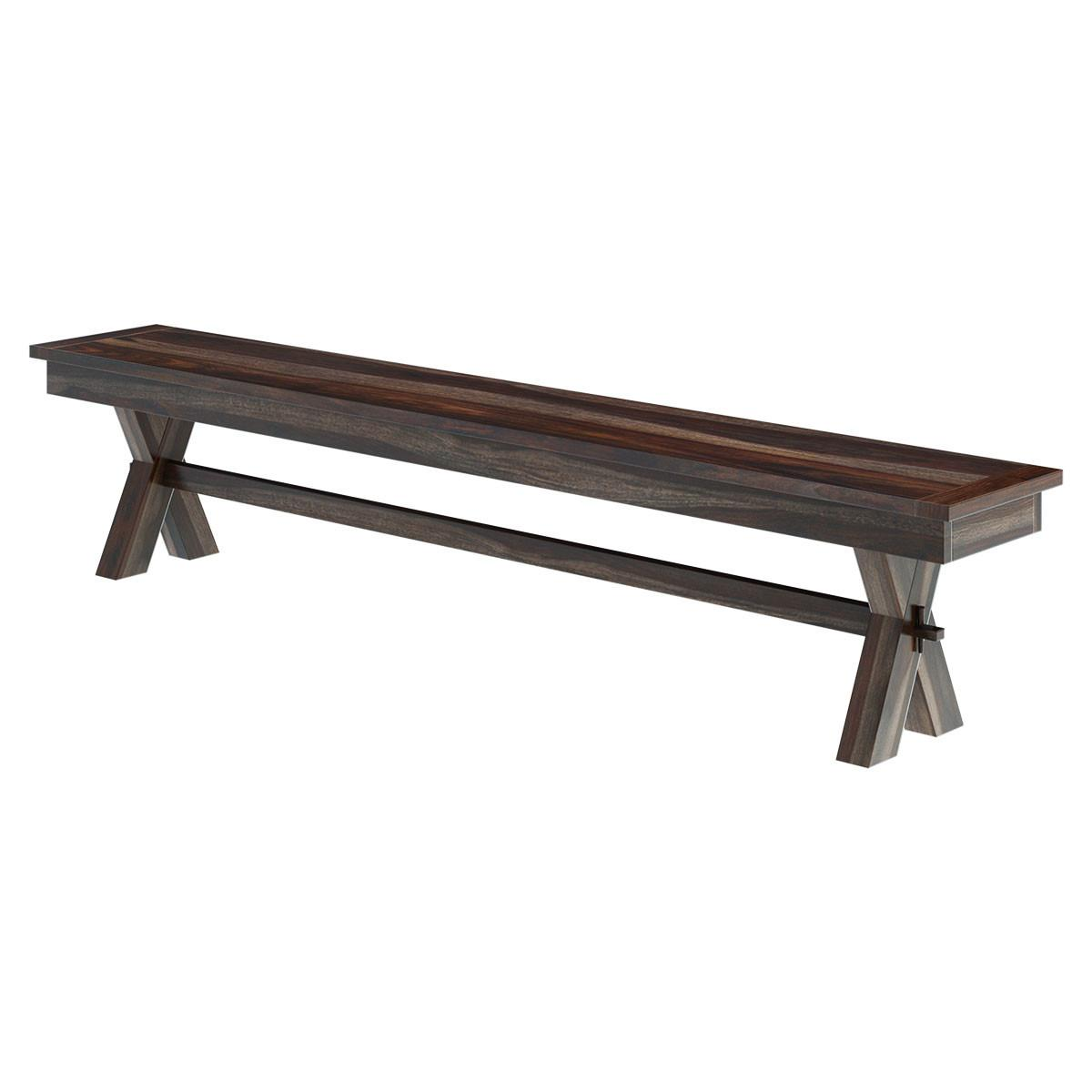 Indoor Picnic Style Dining Table Bench Set Extensions