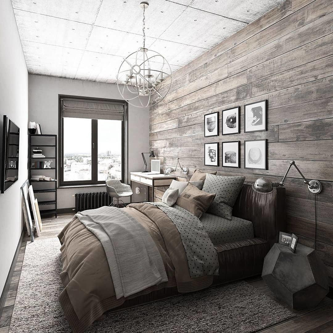 Industrial Bedroom Design Ideas Can Try 2018