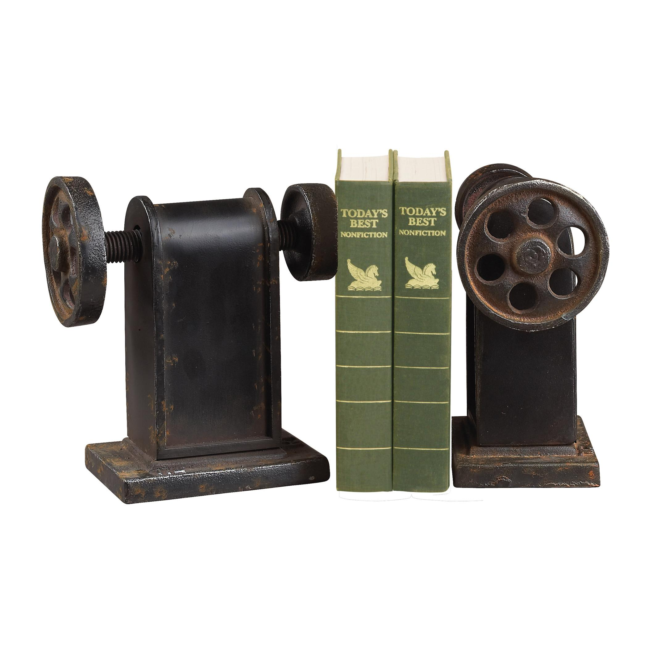 Industrial Book Press Decorative Bookends
