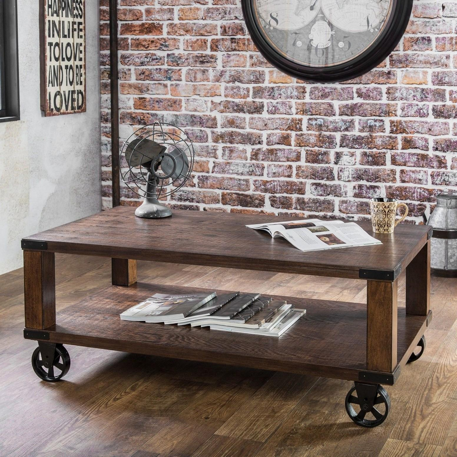 Industrial Cart Coffee Table Gorgeous Factory Style