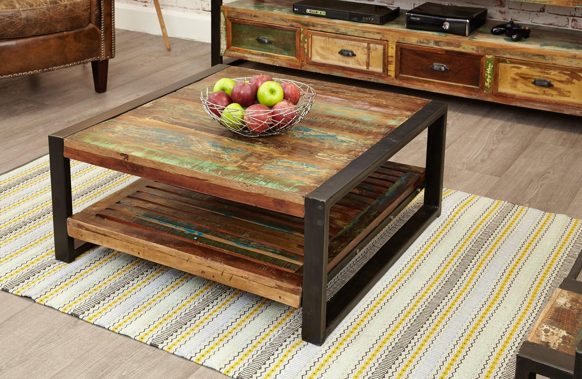 Industrial Chic Square Coffee Table Hampshire Furniture