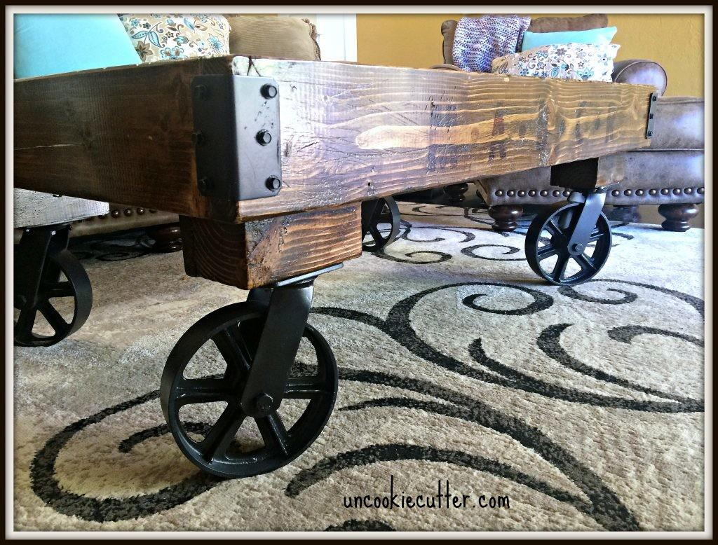 Industrial Coffee Table Shanty Chic