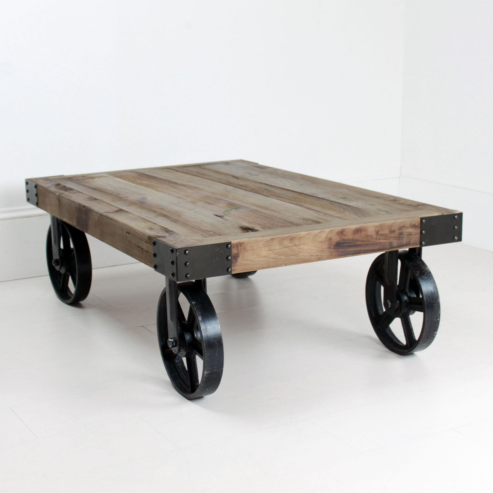 Industrial Coffee Table Wheels Acehighwine
