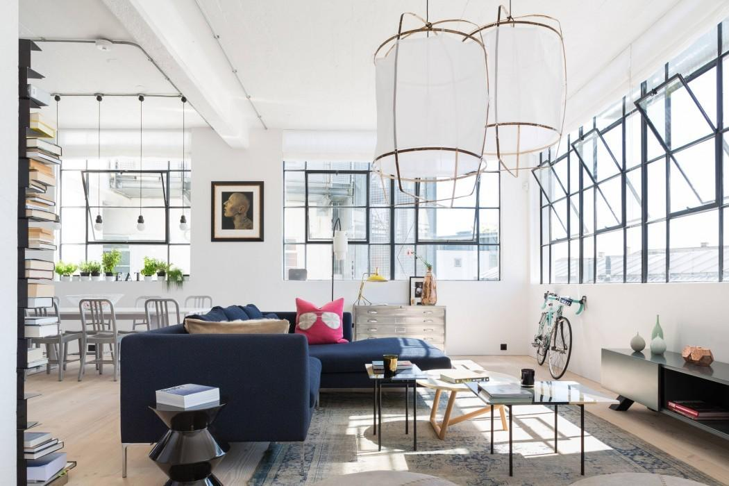 Industrial Colorful Loft London Freshome