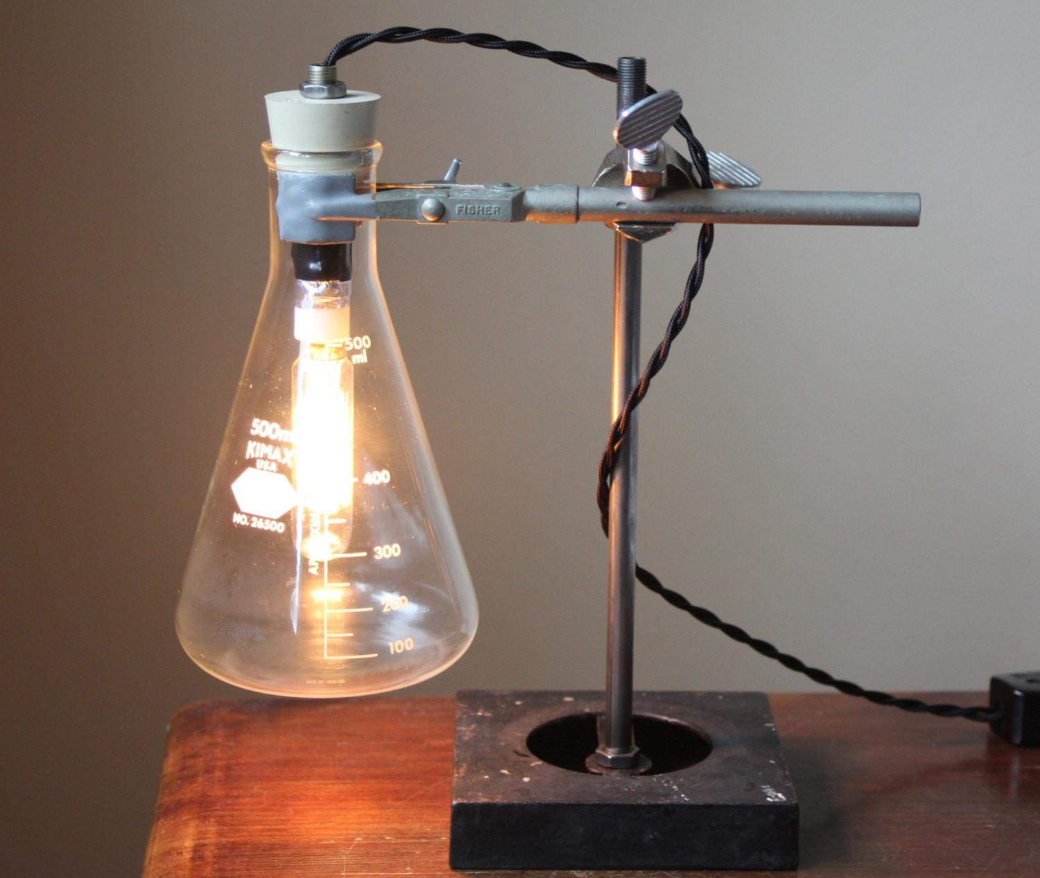 Industrial Desk Lamp Science Steampunk Table Cool