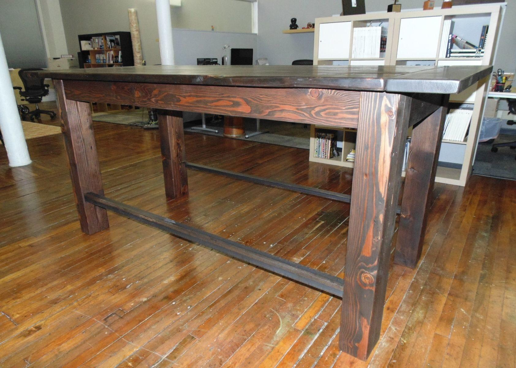 Industrial Diy Table Behind Couch Into Glass Build