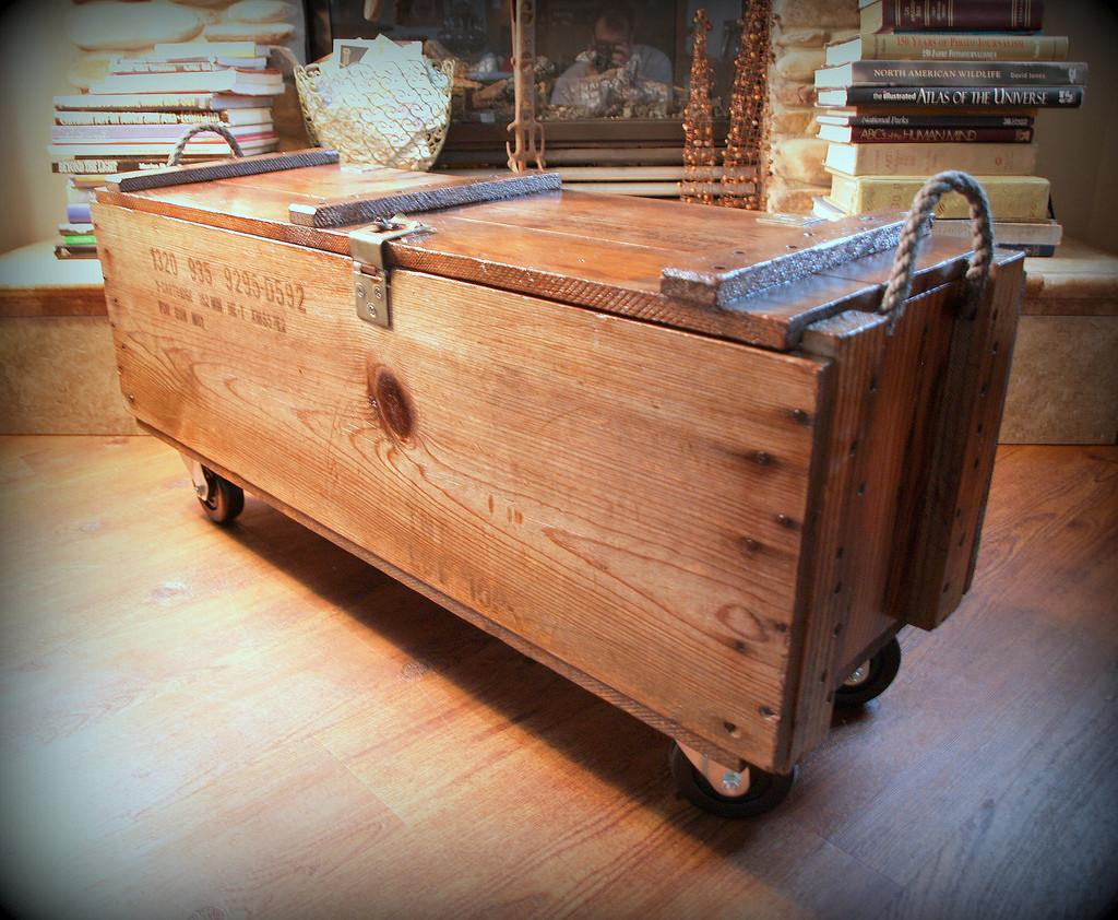 Industrial Furniture Wood Box Wooden Crate Coffe