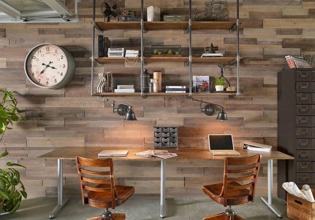 Industrial Home Office Decorating Feel Like Work
