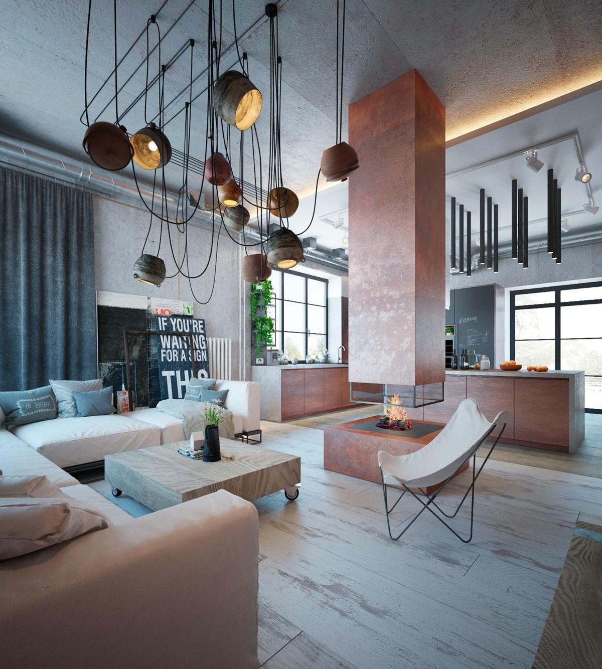 Industrial Home Warm Hues