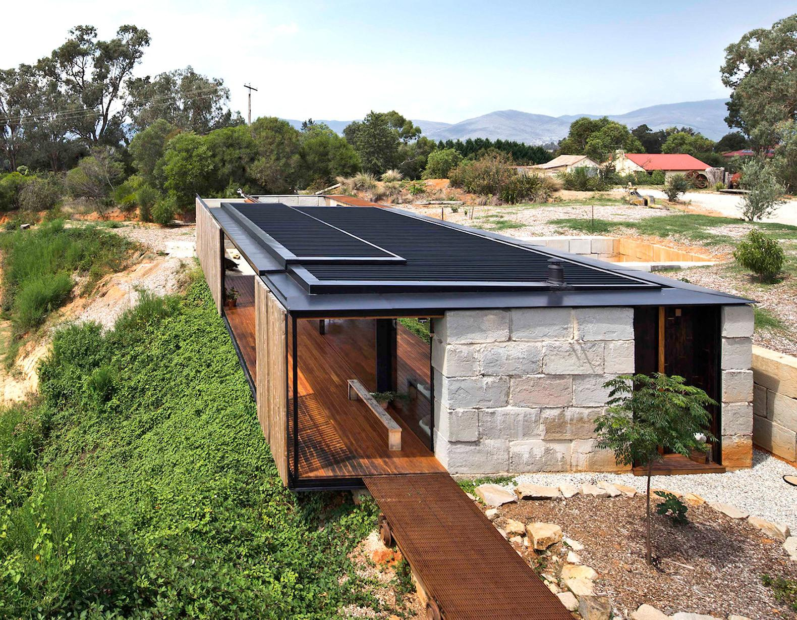 Industrial Modern Sawmill House Built Recycled