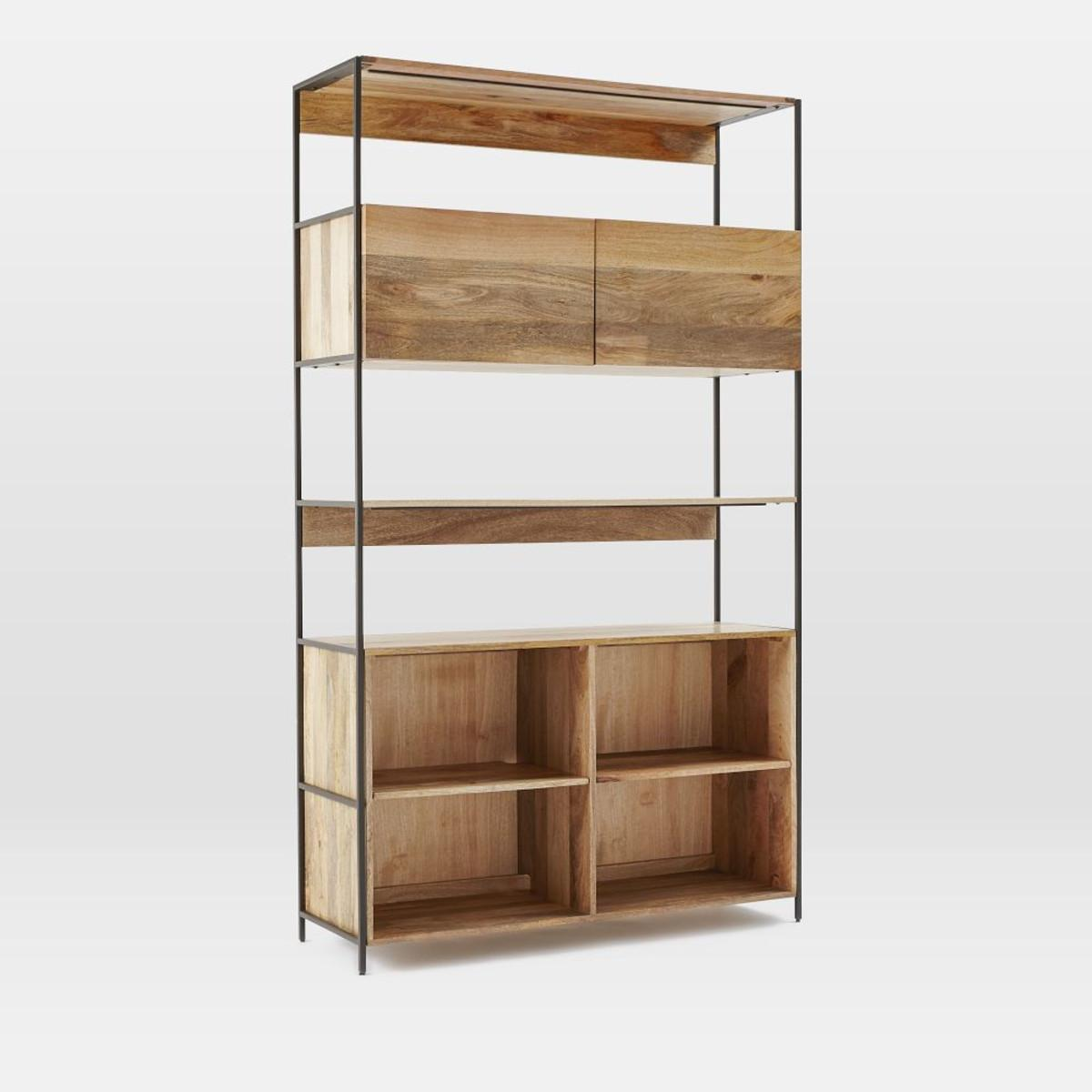 Industrial Modular 124 Open Closed Storage West Elm