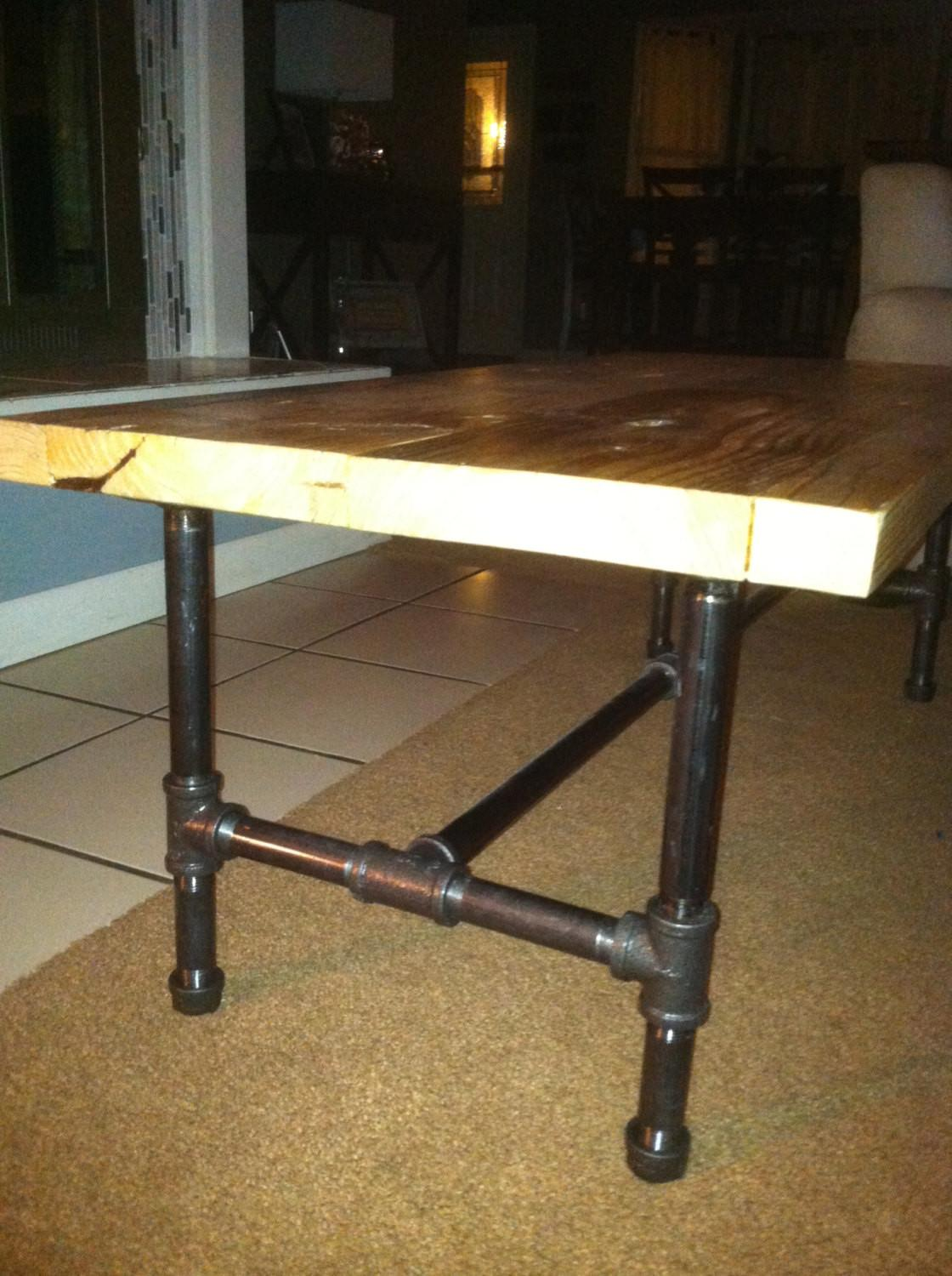 Industrial Pipe Leg Coffee Table Lapalletcreations Etsy