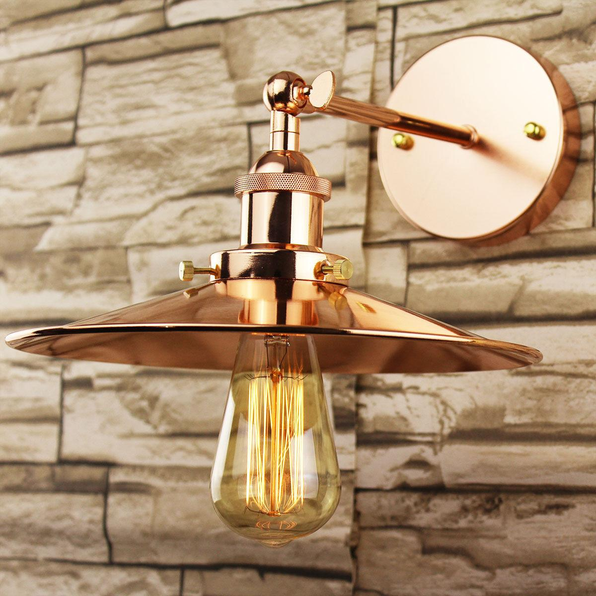 Industrial Retro Vintage Copper Metal Lamp Shade Diy
