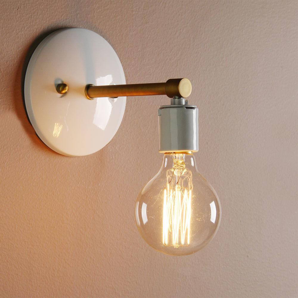Industrial Sconce Antique Vintage Wall Lamp Bare Bulb Loft