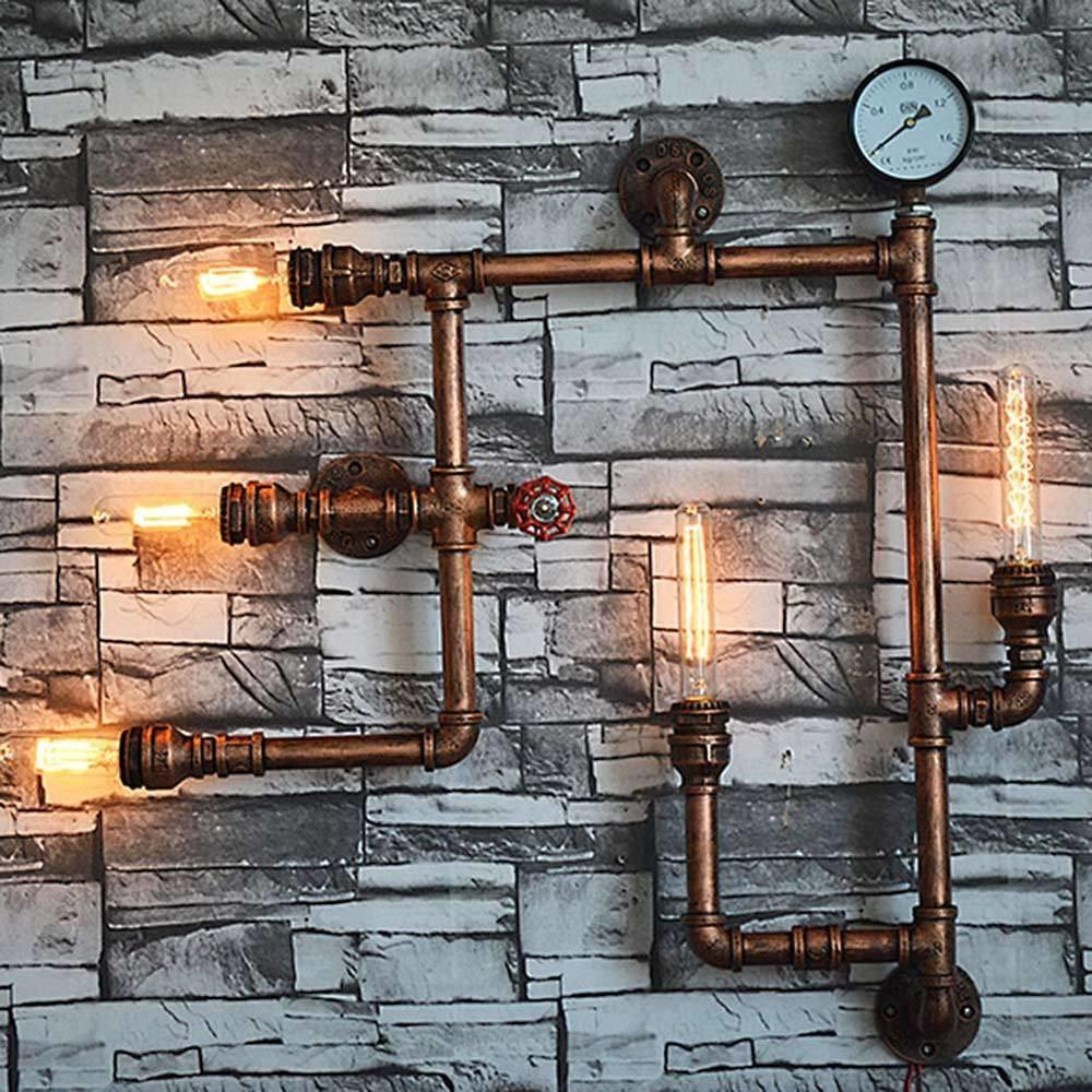 Industrial Steampunk Wall Lamp Fixture Light Rustic