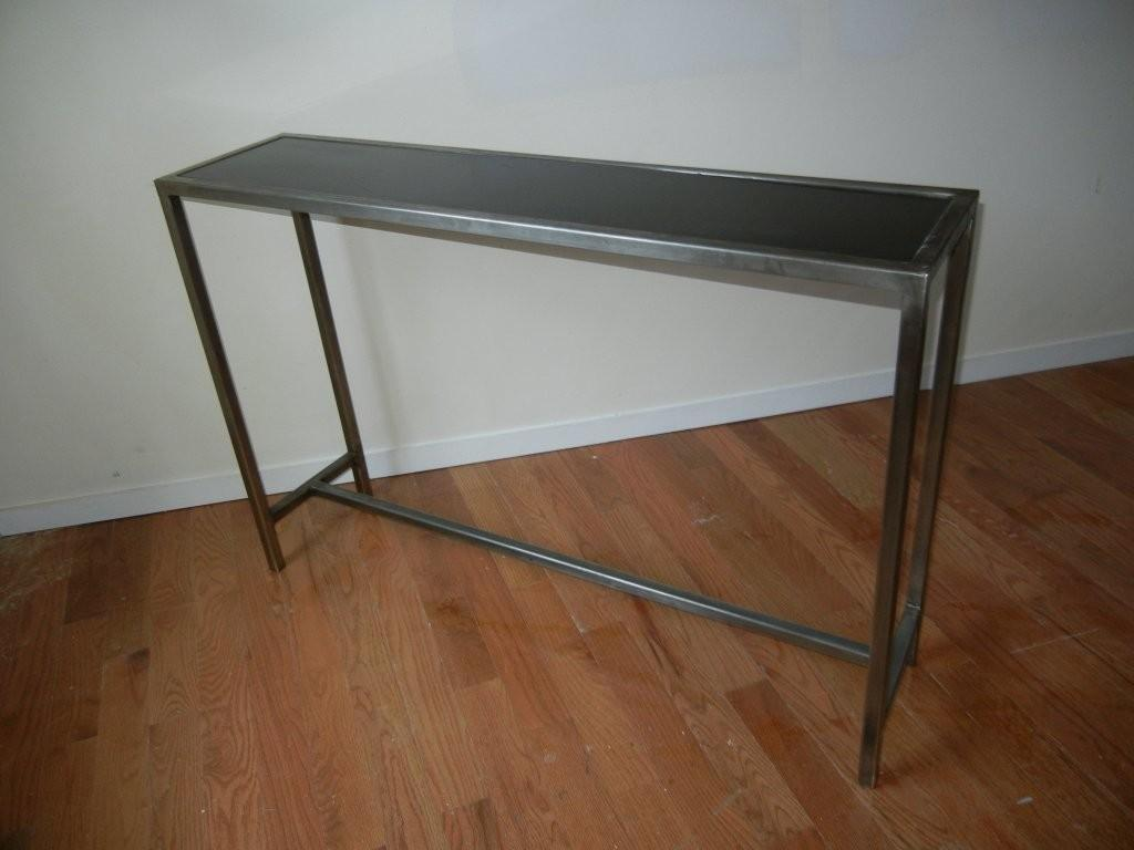 Industrial Steel Marble Console Table Belgium