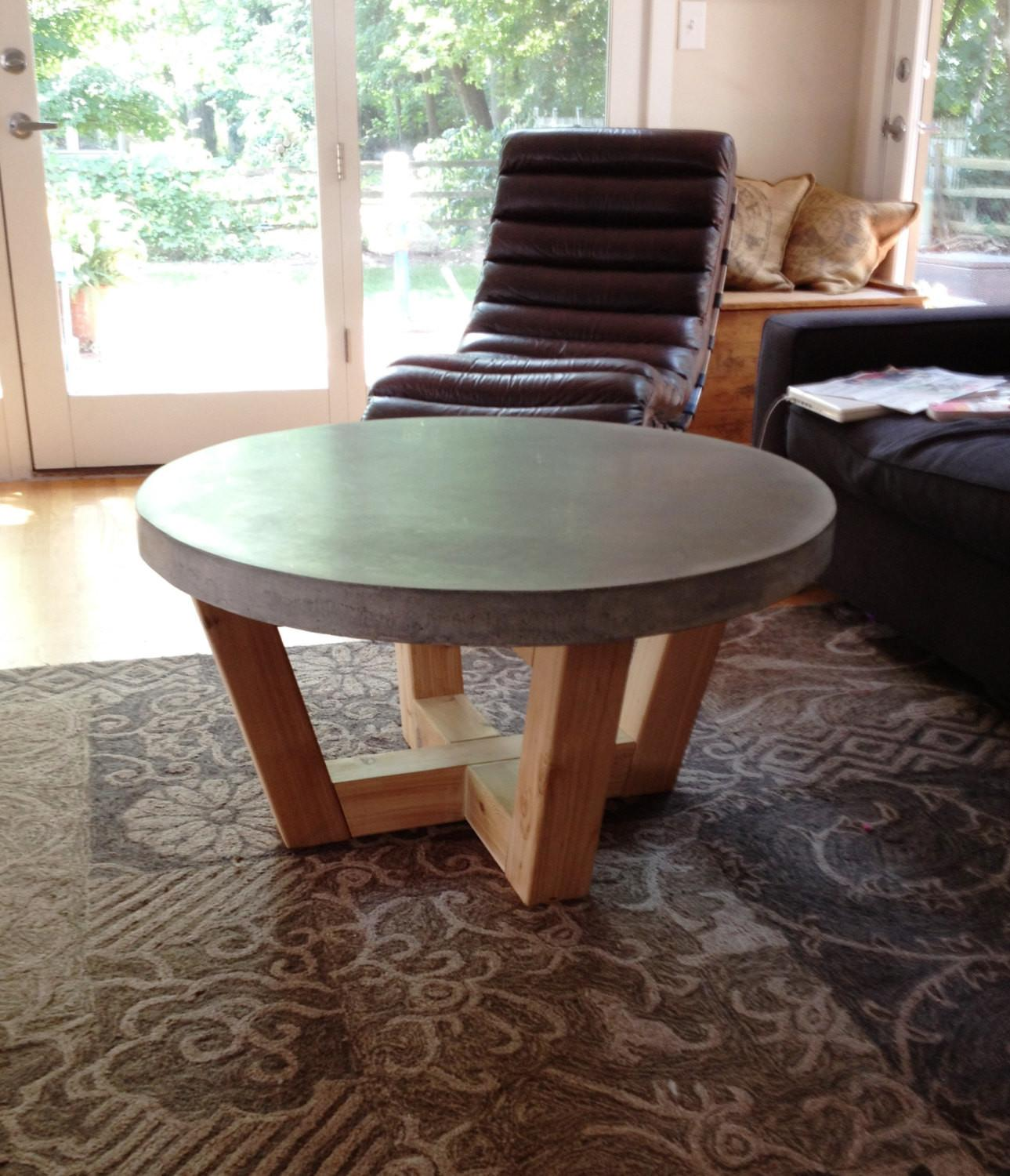 Industrial Style Concrete Coffee Table 3crownsfurniture
