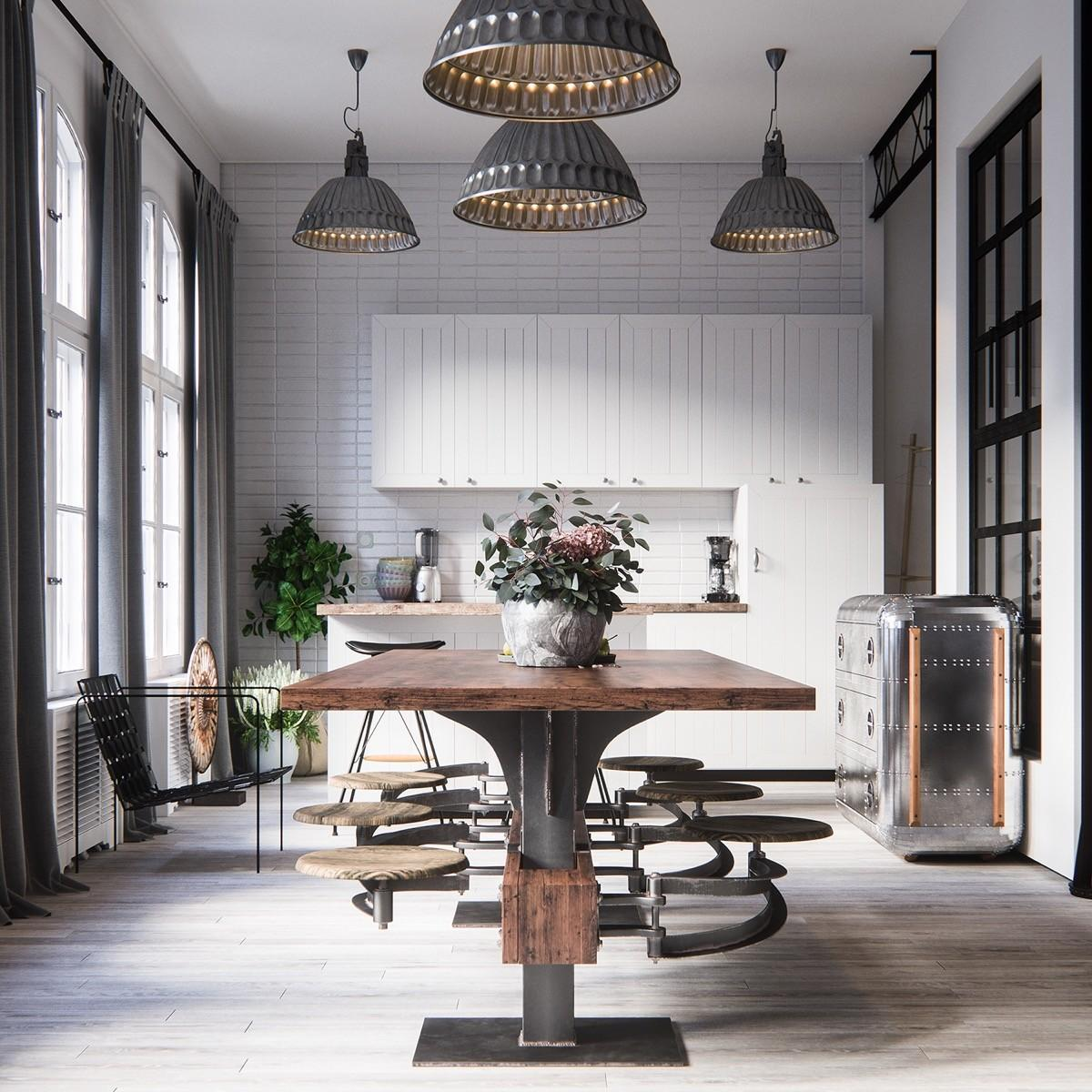 Industrial Style Furniture Accessories, Industrial Style Dining Room Sets