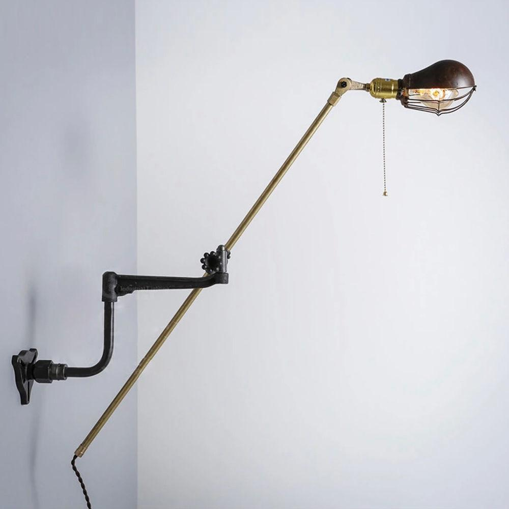 Industrial Swing Arm Light Office Studio Clamp Lamp