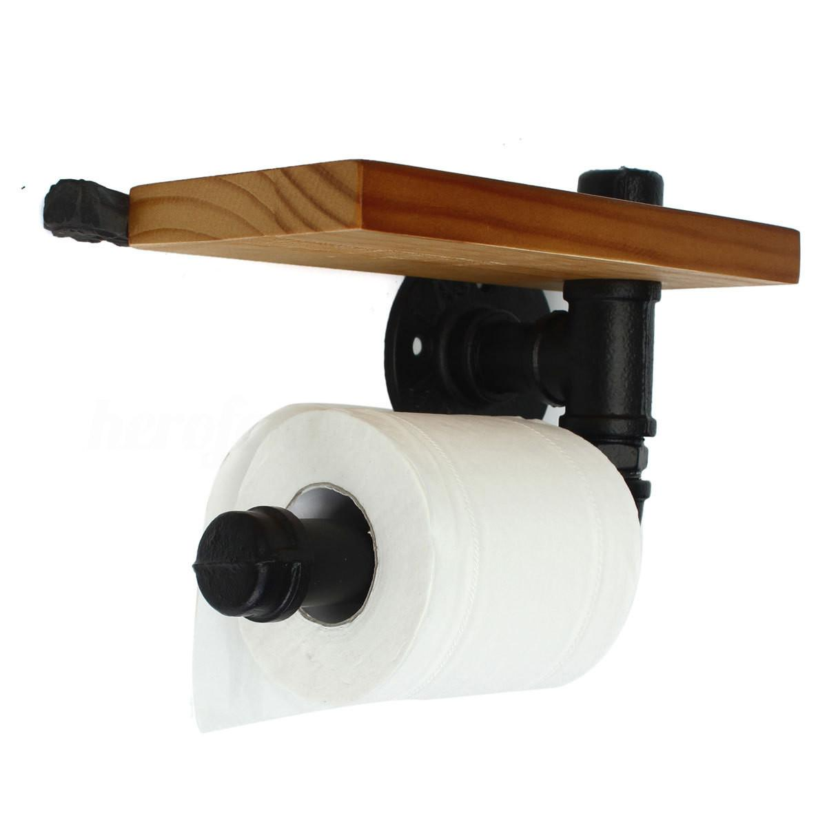Industrial Urban Style Retro Iron Pipe Toilet Paper Holder