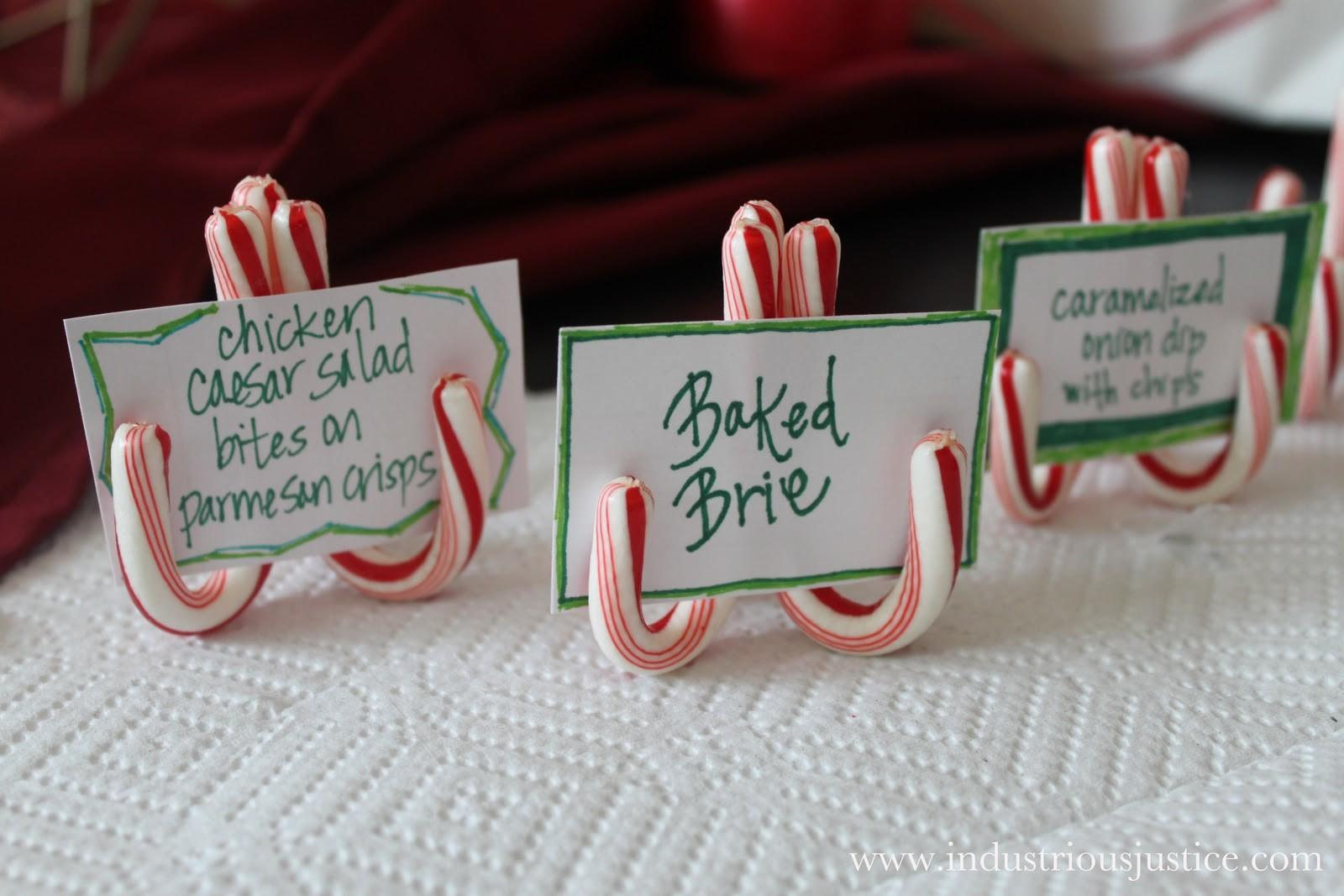 Industrious Justice Candy Cane Place Card Holders