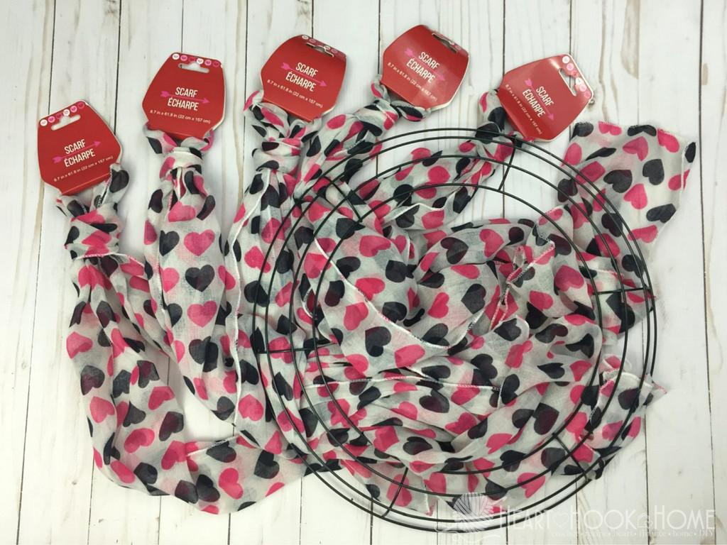 Inexpensive Easy Valentine Day Wreath Using Items