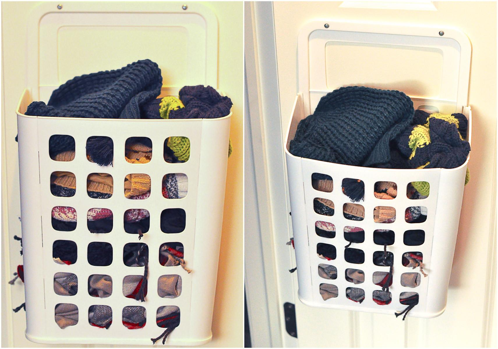 Inexpensive Solution Storing Hats Mittens Scarves