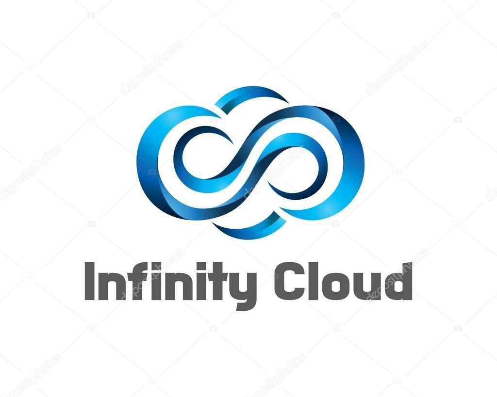 Infinity Cloud Logo Design Vector Template