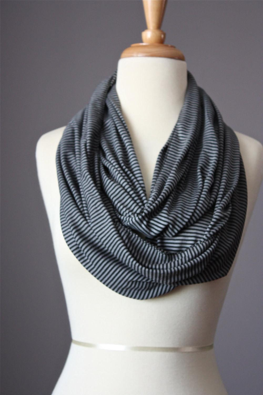 Infinity Striped Scarf Circle Summer Spring Light Loop