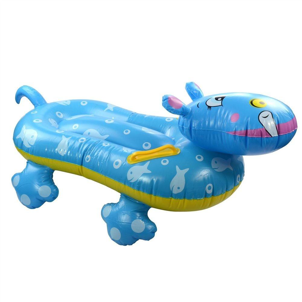 Inflatable Blow Hippo Swimming Pool Float Fun Kids