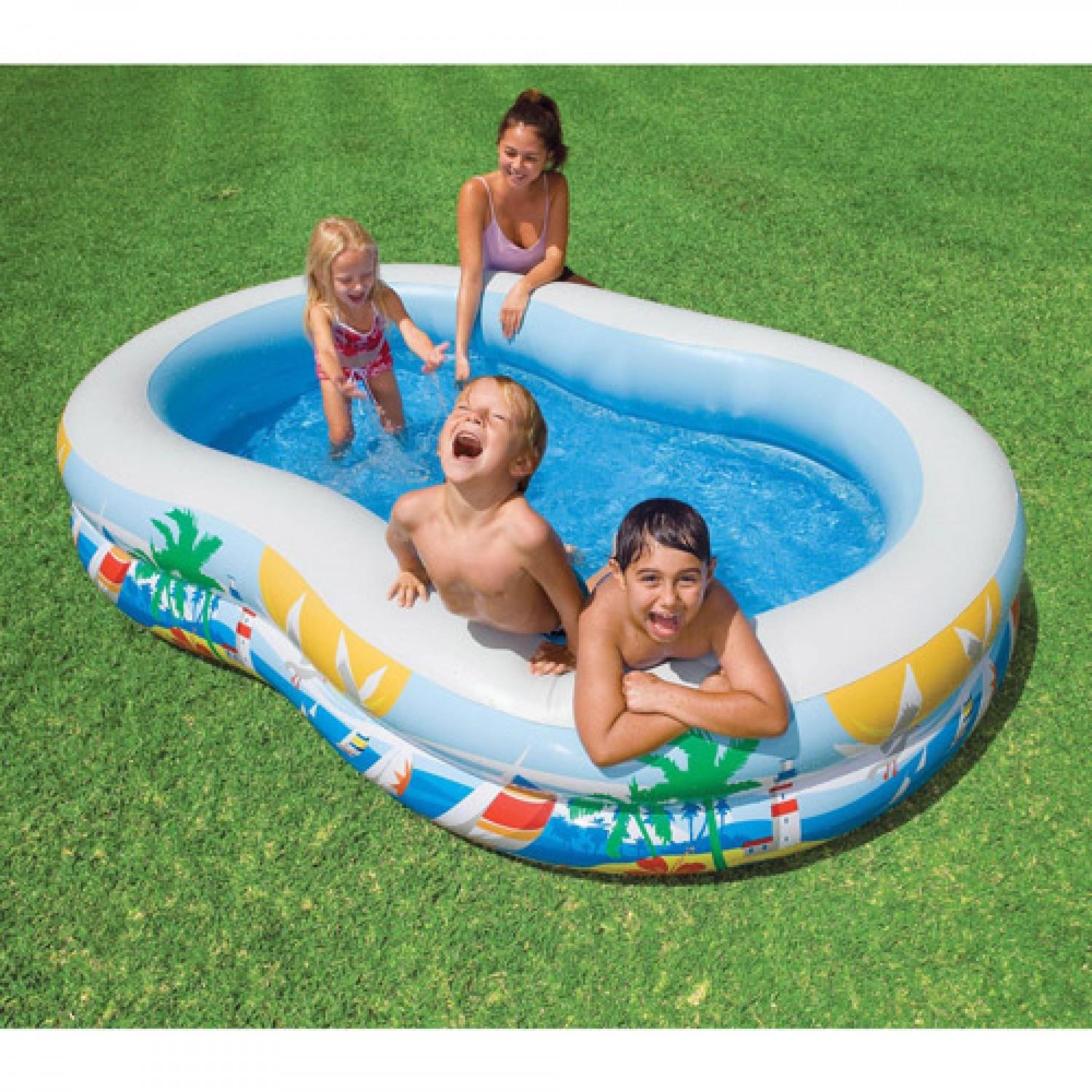 Inflatable Intex Easy Set Swimming Pools Outdoor Ideas