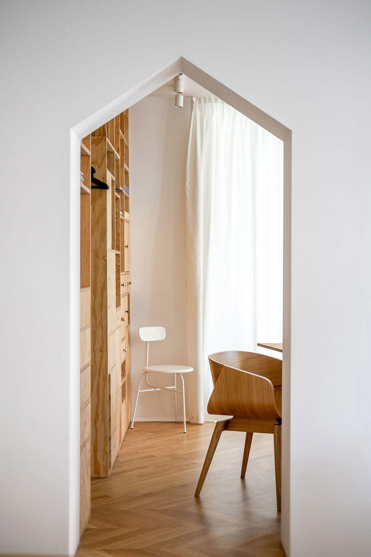 Ingenious Plywood Partitions Drapes Turn Apartment