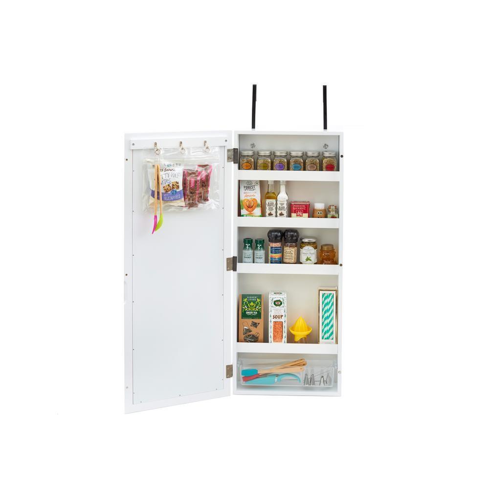 Innerspace Luxury Products White Wall Cabinet Organizer