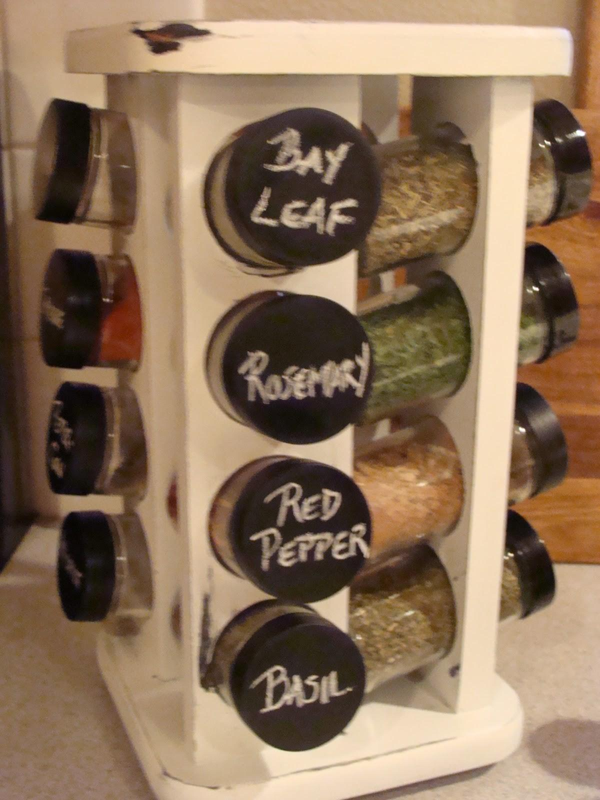 Inside Heather Home Chalkboard Spice Jars