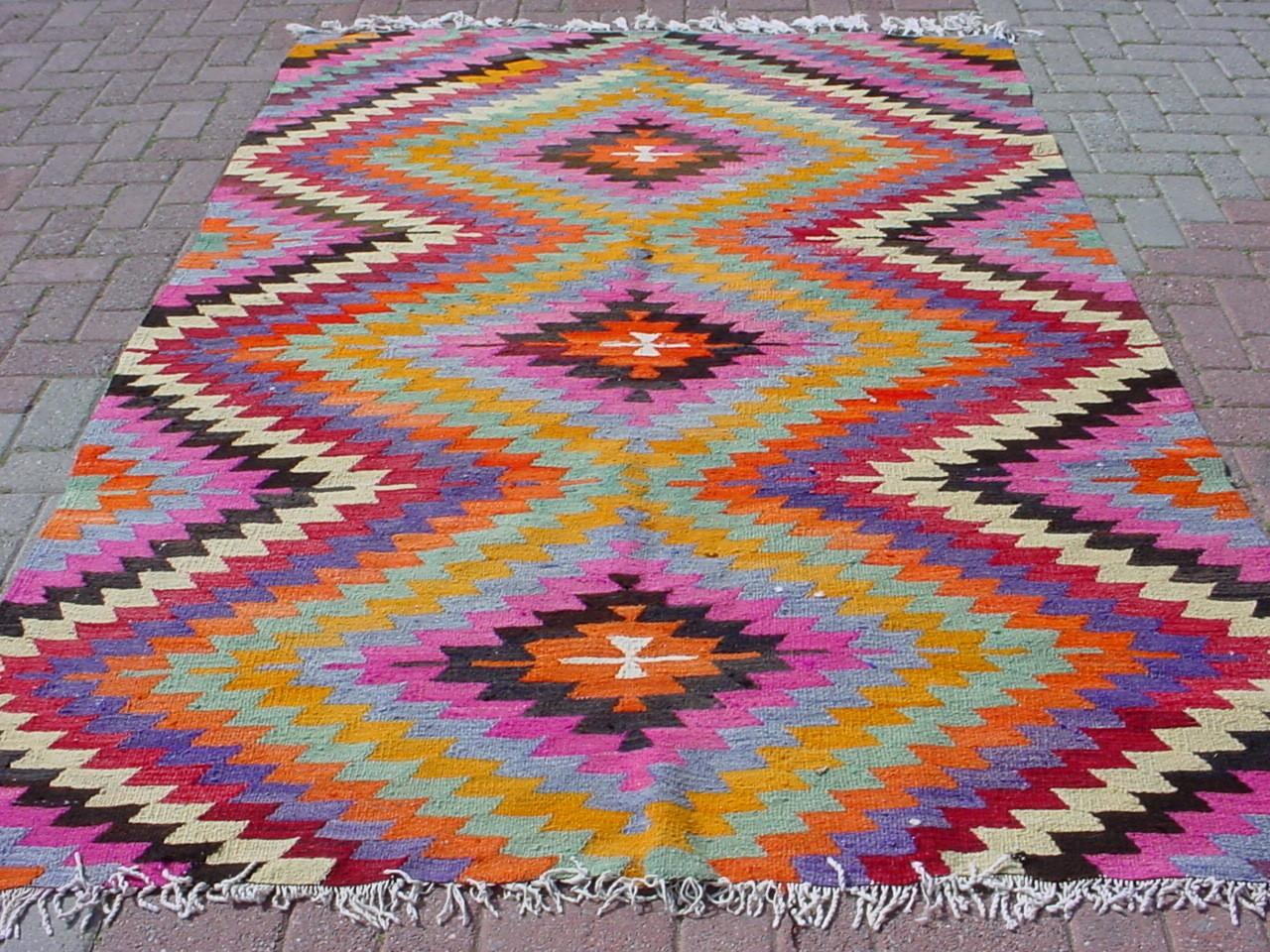 Inspired Design Current Obsession Colorful Kilim Rugs