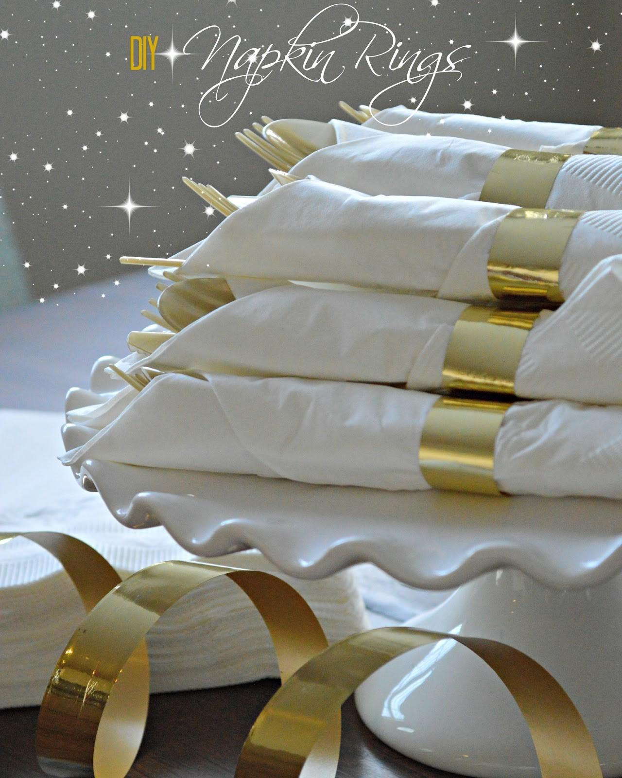Inspired Dos All Glitters Gold Napkin Rings