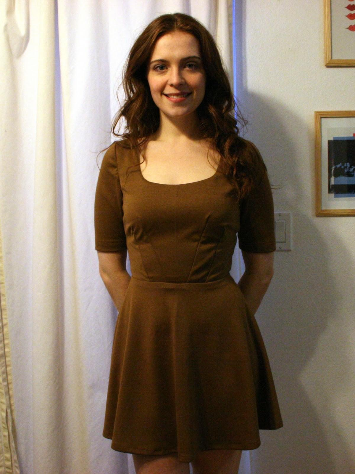 Inspired Simple Swingy Skirted Dress Create