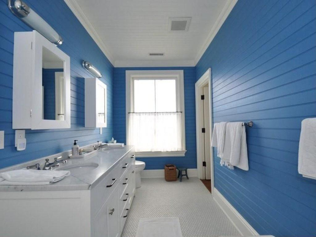 Inspiring Blue White Themed Bathroom Ideas Howiezine