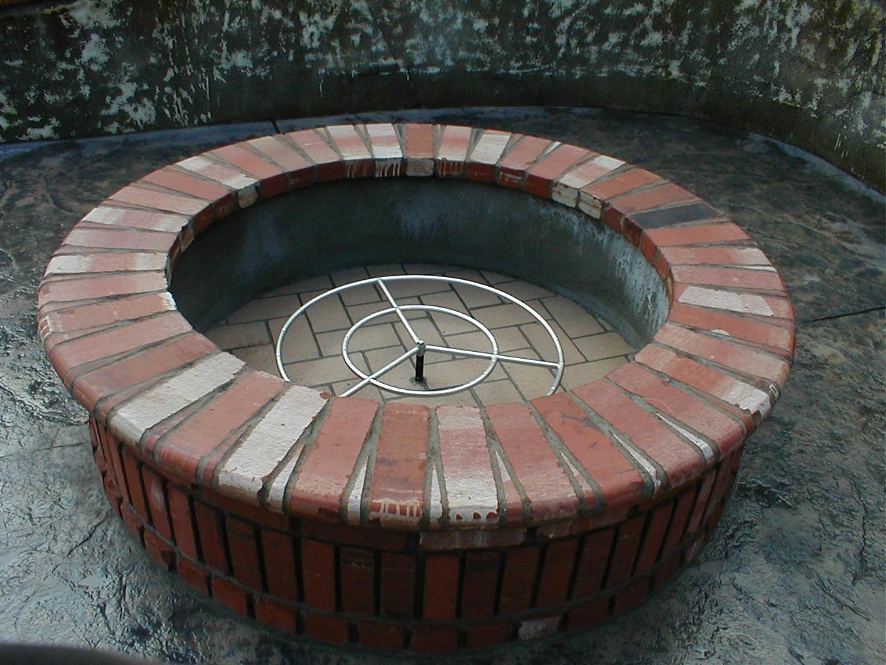 Inspiring Homemade Brick Fire Pit Home Design Outdoor Pits