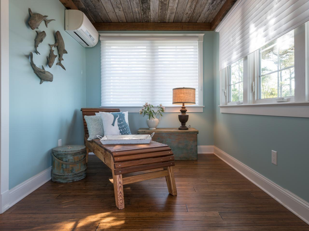 Install Reclaimed Wood Ceiling Treatment