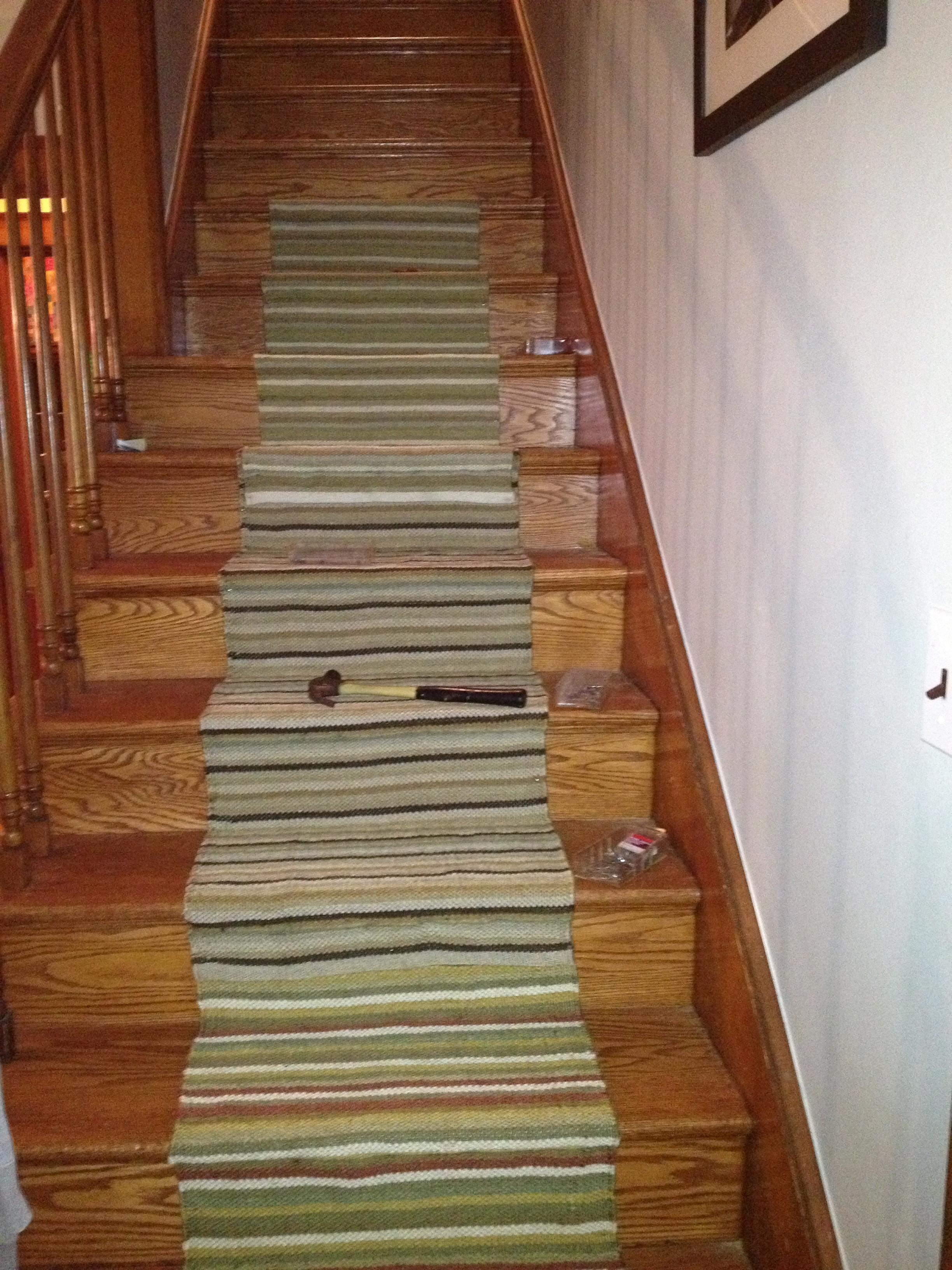 Install Stair Runner Simply Turquoise