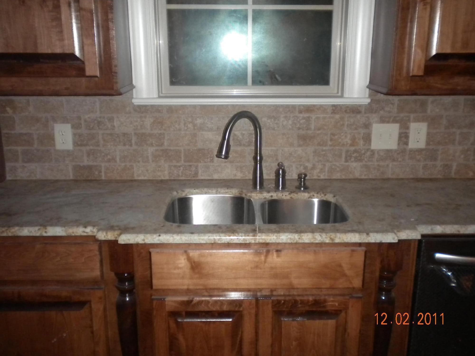 Installing Kitchen Countertops Stone Backsplash