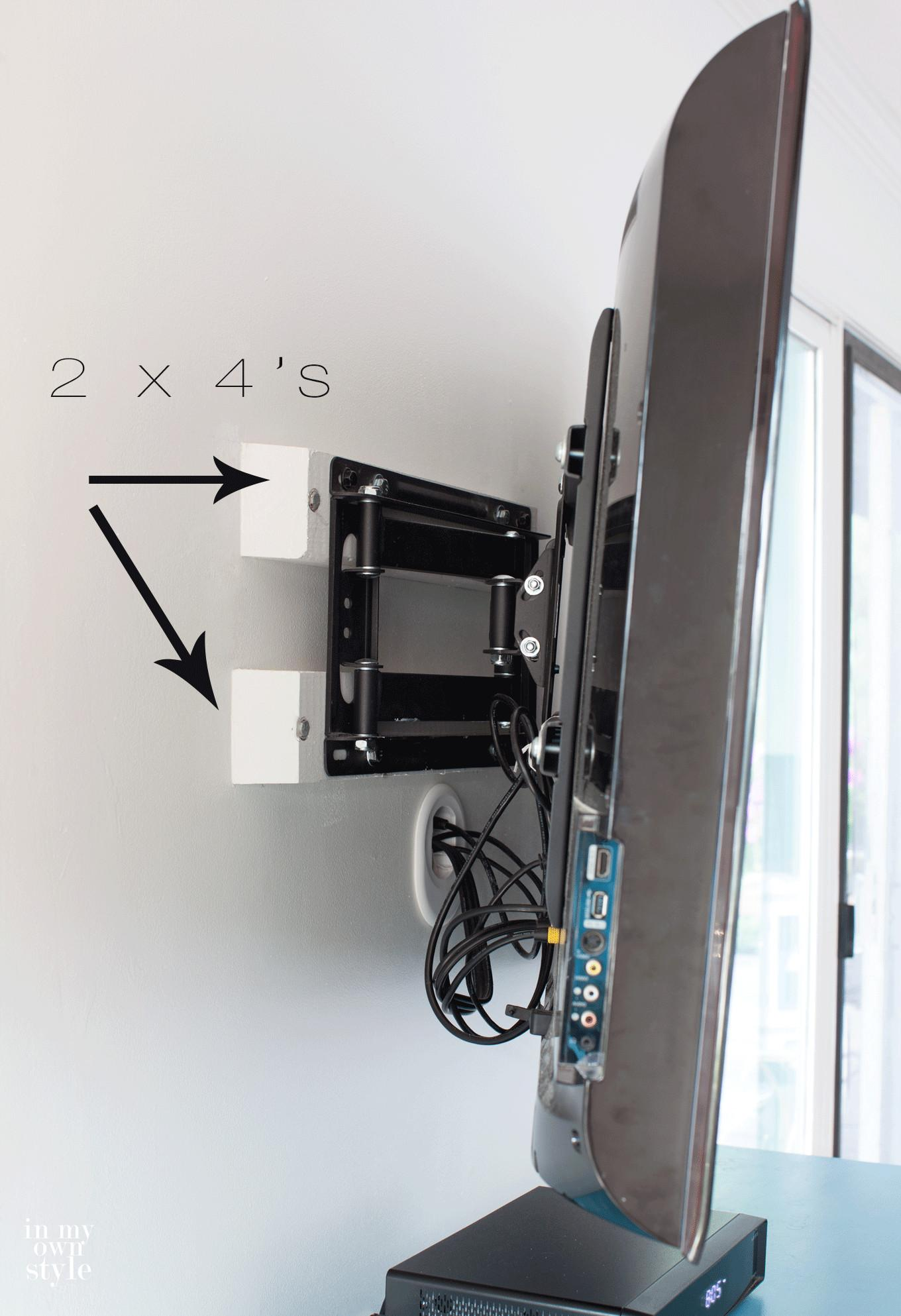 Installing Swivel Mount Hiding Cords Cable