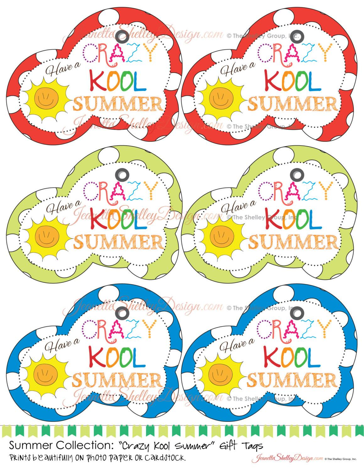Instant Diy Printable Summer Collection