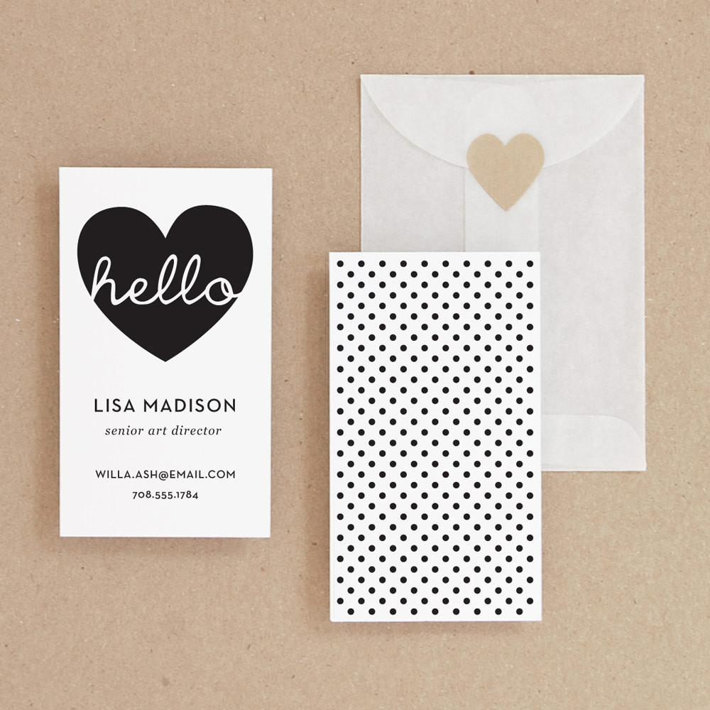 Instant Hello Diy Printable Business Card